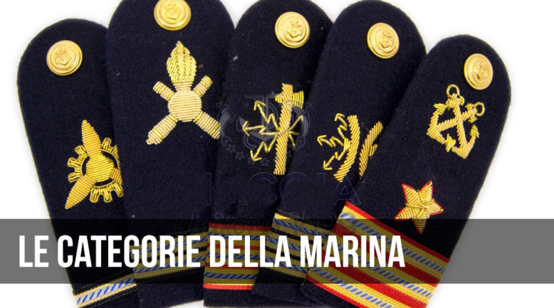 le categorie della marina